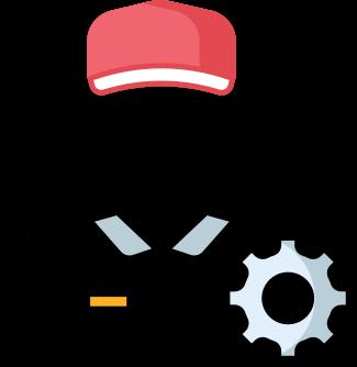 İçerisinde ayarlar ve tamirci sembolü barıdıran Satko destek talep sistemini anlatan ikon